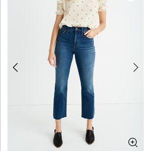 Madewell Cali Demi-Boot Jeans: Raw Hem Edition